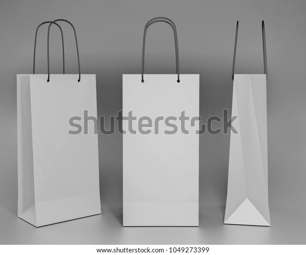 3d Model Paper Bag Stock Illustration 1049273399
