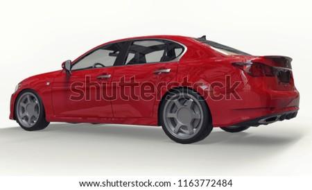 3 D Model Red Lexus Gs On Stock Illustration 1163772484 Shutterstock