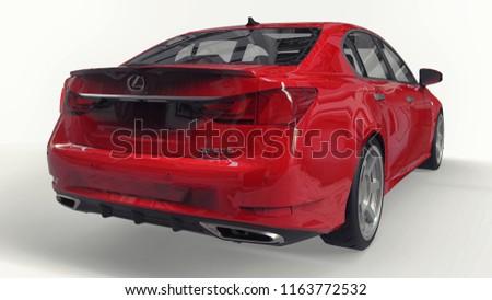 3 D Model Red Lexus Gs On Stock Illustration 1163772532 Shutterstock