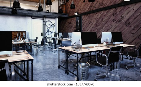 3d modern office interior