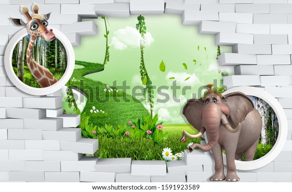 3d wall murals for children's room visually expand the room