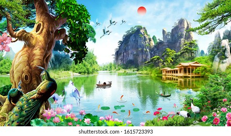 3d nature water animals wallpaper 260nw 1615723393