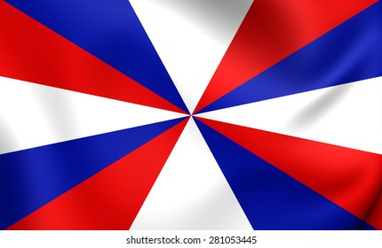 3D Naval Jack of the Netherlands. Close Up.