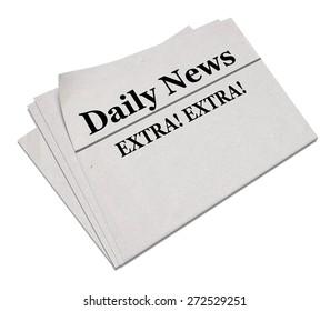 3D. Newspaper, Newspaper Headline, The Media.
