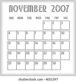 3 D January 2008 Agenda Calendar Stock Illustration Royalty Free