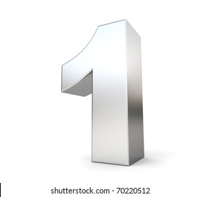 3d number 1 - from my metal number collection