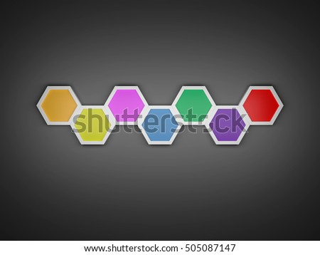 3 d octagon template layout business stock illustration 505087147