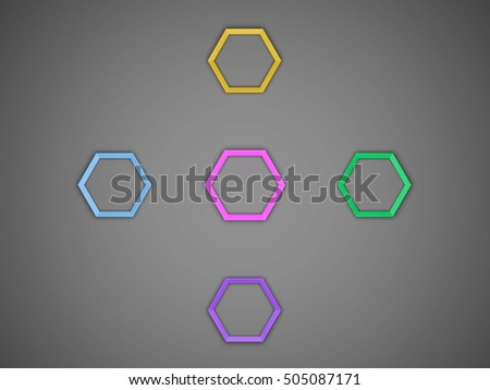 3 d octagon template layout business stock illustration 505087171