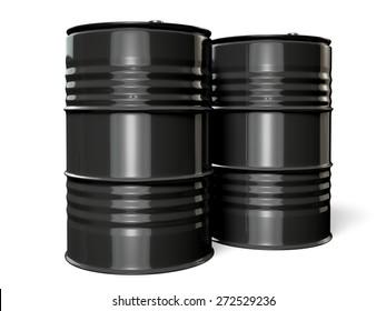 3D. Oil Drum, Barrel, Oil.