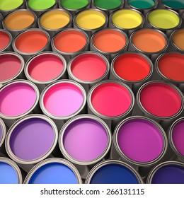 3D. Paint Can, Paint, Painting.