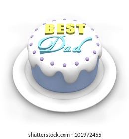 3D Pastel Colored Cake For Fathers Day