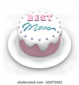 3D Pastel Colored Cake For Mothers Day