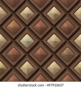 3d, pattern of wooden squares, seamless