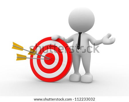 3 D People Man Person Target Arrows Stock Illustration 112233032