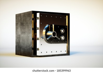 3d photo realistic image of safe deposit box