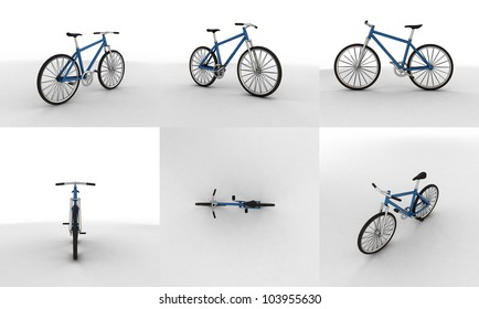 3d pictogram of a bicycle - close up