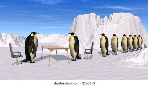 a 3d picture to illustrate recruiting... Help wanted...