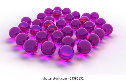 3D Pink Crystal Ball