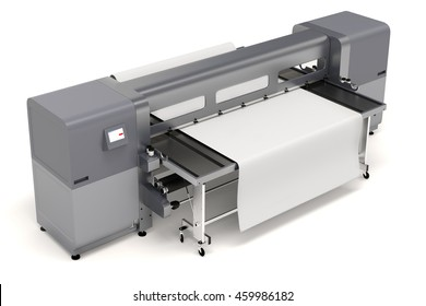 3d plotter large format printing on white background