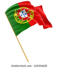 3D Portuguese flag  (clipping path included)