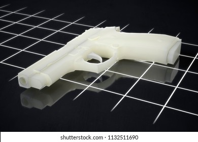 3d printed gun pistol manufactured using FLM and SLA processes 3d  illustration 3b5f239742