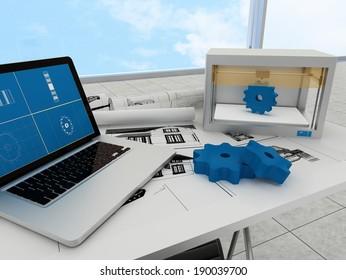 3d printing technology, printing gears