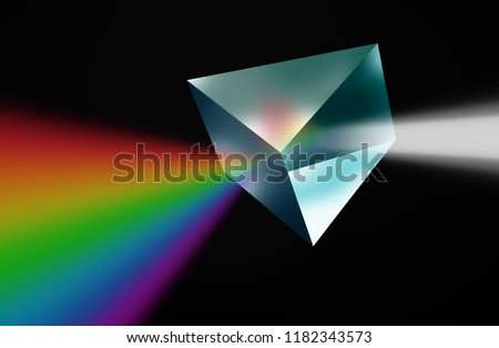 3D Prism with light