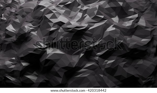 3D processed colorful abstract fractal geometrical background