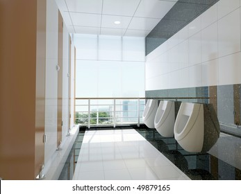 3d public bathroom