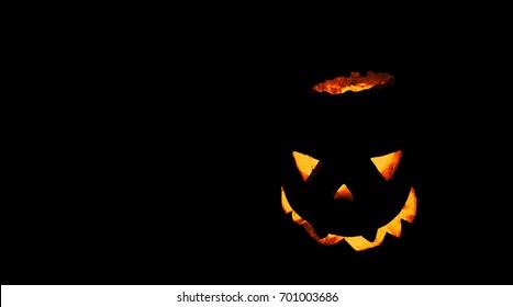 3d pumpkin- halloween background