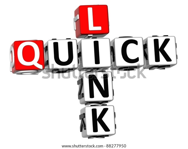 3D Quick Link Crossword on white background