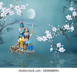 Radha Krishna Images Stock Photos Vectors Shutterstock