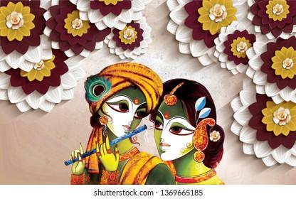 3d radha krishna wallpaper