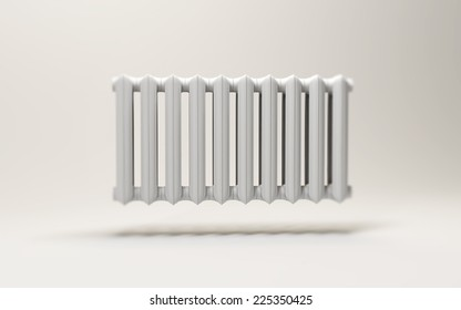 3d radiator isolated on white background