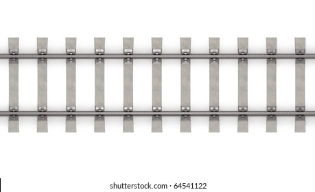 3d rails horizontal top view