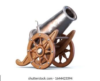 3d ramadan cannon gun isolated