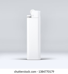 3D realistic lighter mockup with white background