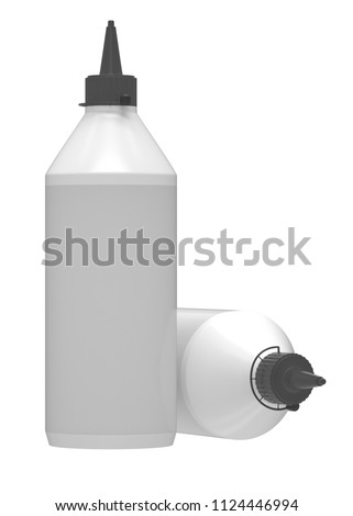 3 d realistic render wood glue bottle stock illustration 1124446994