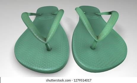 3d realistic slipper