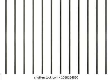 3d realistic steel prison bars.