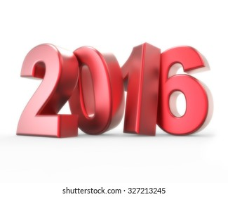 3d red number 2016 - new year concept