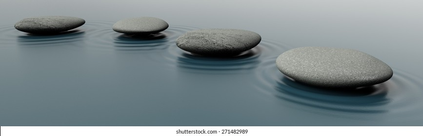 3D. Relaxation, Stepping Stone, Simplicity.