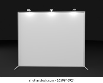 3d render 2x3 backdrop with light. Realistic mockup. Press wall