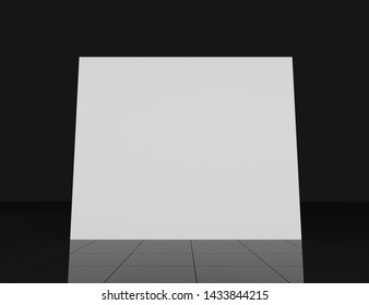3d render 2x3 pop up template. Realistic isolated mockup