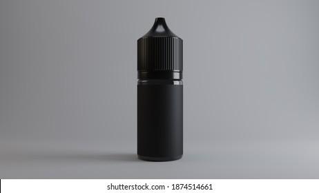 3D Render 30ml Bottle E-Liquid for Vape E-Juice