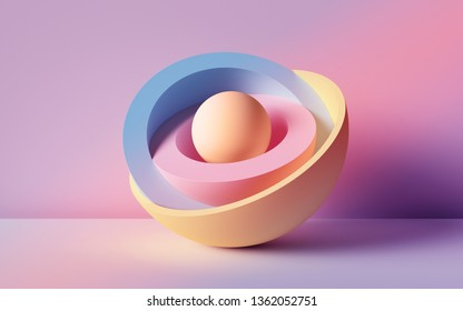 3d render, abstract background, pastel neon balls, primitive geometric shapes, simple mockup, minimal design elements