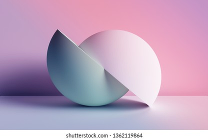 3d render, abstract background, pastel neon primitive geometric shapes, balls, simple mockup, minimal design elements