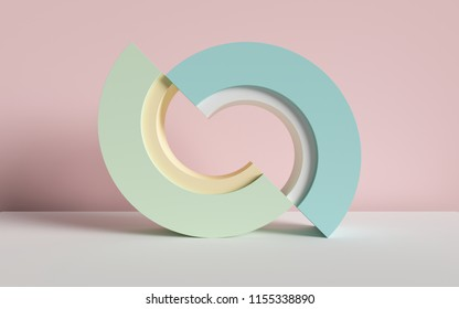 3d render, abstract background, primitive geometric shapes, pastel color palette, simple mockup, minimal design elements