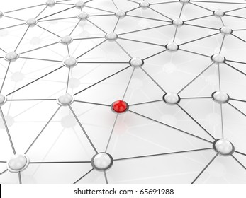 3d render of abstract connection network concept