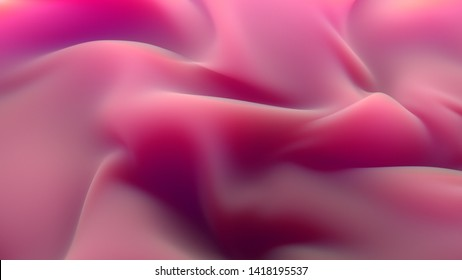 3d render of abstract folded surface with subsurface scattering effect. Deformation like cloth.